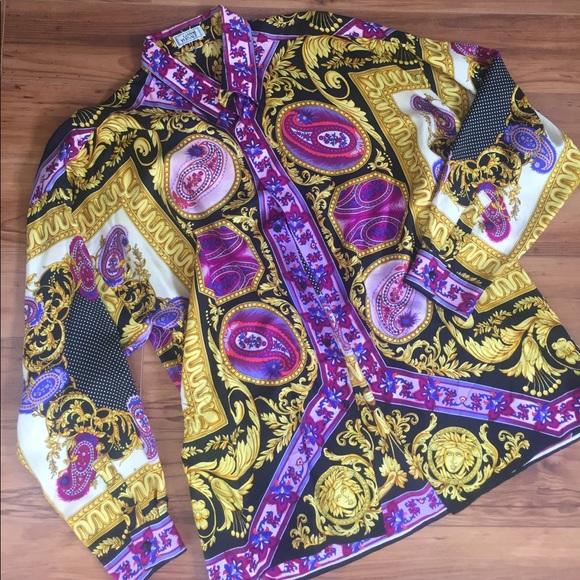 2c8e7ecc3f 💜 Vintage GIANNI VERSACE Men's Silk Shirt / Dress